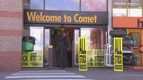 Comet Store Front Sale Signs