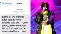 Parklife text and Snoop Dogg