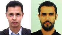 Reporter Ishak Moctar (L) and Lebanese cameraman Samir Kassab