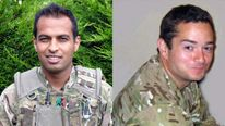 Lance Corporal Siddhanta Kunwar and Lieutenant Edward Drummond-Baxter.
