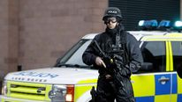 Armed police officers at the trial of Dale Cregan