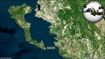 Kavos on Corfu in Greece