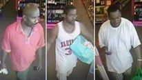 CCTV images of three suspects. Pics: WSB-TV