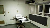 Execution chamber for lethal injection at at the Oklahoma State Penitentiary in McAlester