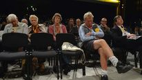 Bored delegates at Lib Dem party conference
