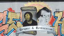Mural to Cecelia Gimenez