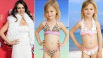 Elizabeth Hurley and children in bikinis