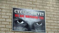 Eye signs deter bike thieves