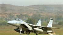 US F-15C fighter jet on exercise in India