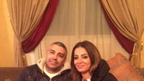 Mohamed Fahmy and his wife Marwa Omara at home in Egypt