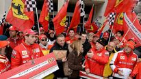 Ferrari fans in Schumacher tribute