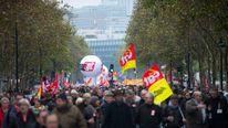 Anti-austerity protests in Paris