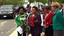The US congresswomen read out the names of the kidnapped schoolgirls