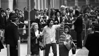 Gerry Conlon outside the Old Bailey after his conviction overturned