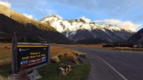 Mount Cook Village is a few miles from Mt Mabel, where an English climber got into difficulty and was rescued