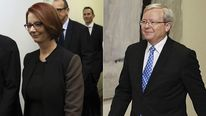 Julia Gillard and Kevin Rudd head to the leadership ballot.