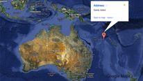 Google Map shows Sandy Island