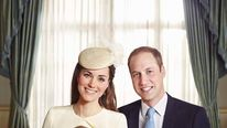 The Duchess and Duke of Cambridge with their son Prince George