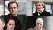 Andy Coulson, Bettina Jordan-Barber, Rebekah Brooks and John Kay