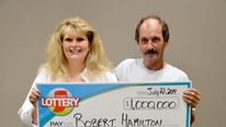 Robert Hamilton with wife, Donna. Pic: Hoosier Lottery