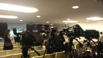 Cameras set up for the new TV channel launch
