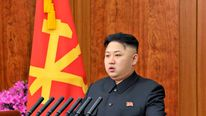 North Korean leader Kim Jong-un delivers a New Year address in Pyongyang