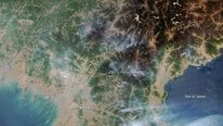 Satellite imagery shows numerous fires burning in North Korea. Pic: NASA