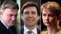 Ed Balls, Andy Burnham and Yvette Cooper