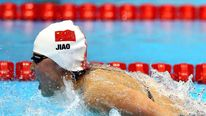Gold medalist Liuyang Jiao of China competes in the Women's 200m Butterfly