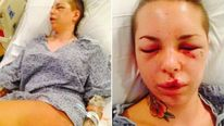 Christy Mack in hospital Pic: Twitter @ChristyMack