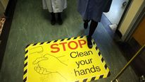 Clean your hands sign