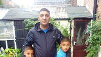 Father Nazim Parwaiz Kayani and his son's Adhyan and Amaan. Picture: Nazim Parwaiz/Facebook