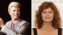 David Bowie in 1983 and Susan Sarandon