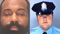 Edward Archer (L) is accused of shooting Officer Jesse Hartnett (R)