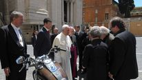 Pope Francis with his Harley Davidson