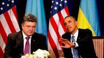 President Barack Obama meets Ukraine President-elect Petro Poroshenko in Warsaw, Poland