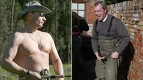 Vladimir Putin and Nigel Farage