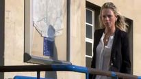Former Miss Great Britain competitor Rachel Hatton outside Northampton Magistrates Court