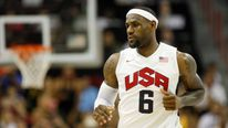 Team USA basketball player LeBron James