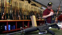 An assault rifle being sold in Parker, Colorado