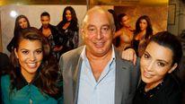 Philip Green With Kourtney and Kim Kardashian