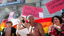 Nudism protest San Francisco