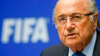 FIFA President Blatter addresses a news conference in Zurich
