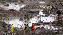 The search for victims after a mudslide in Oso in Washington state continues