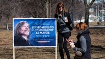 Fake Toronto mayoral campaign signs mock Rob Ford