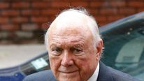 Former broadcaster Stuart Hall arrives at Preston Crown Court, in Preston northern England