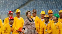 Brazil's President Rousseff Opens Arena das Dunas stadium in Natal