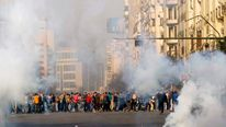 Demonstrations on the anniversary of the Egyptian uprising in Tahrir Square, Cairo