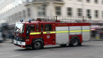 A fire engine in London