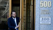 Former Goldman Sachs trader Matthew Taylor departs Manhattan Federal Court in New York